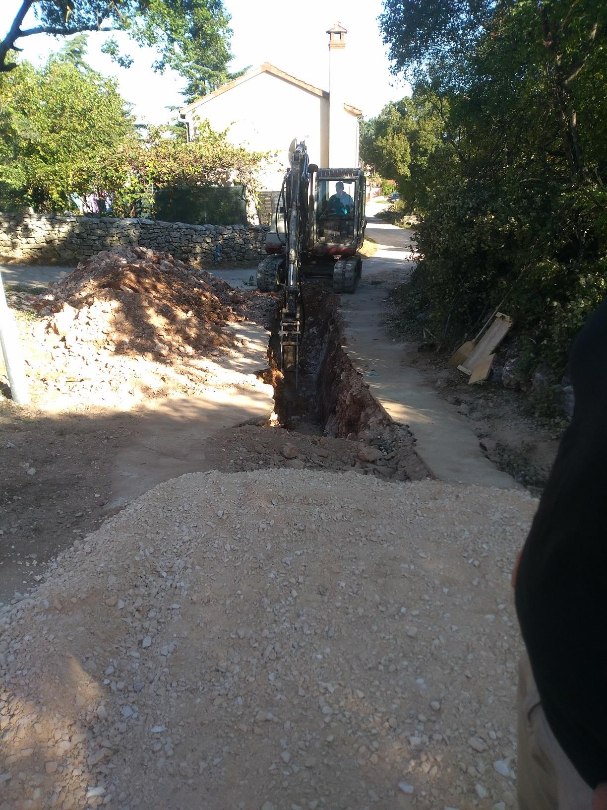 Radovi na iskopu - kolektor K-1.5.3 u Rovinjskom Selu